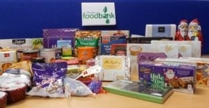 Bicester Foodback Christmas 2016 food donations from staff at Cherwell Laboratories