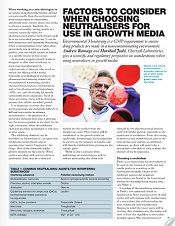 neutralisers in growth media