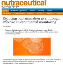 Environmental monitoring article in vol 3 issue 4 2016 Nutraceutical Business Review