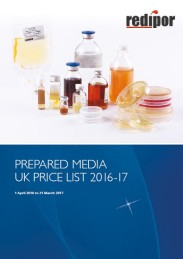 redipor prepared media 2016 price list